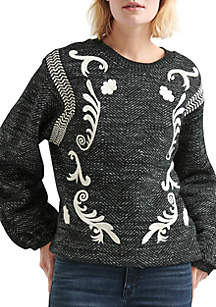 Lucky Brand Embroidered Twill Pullover