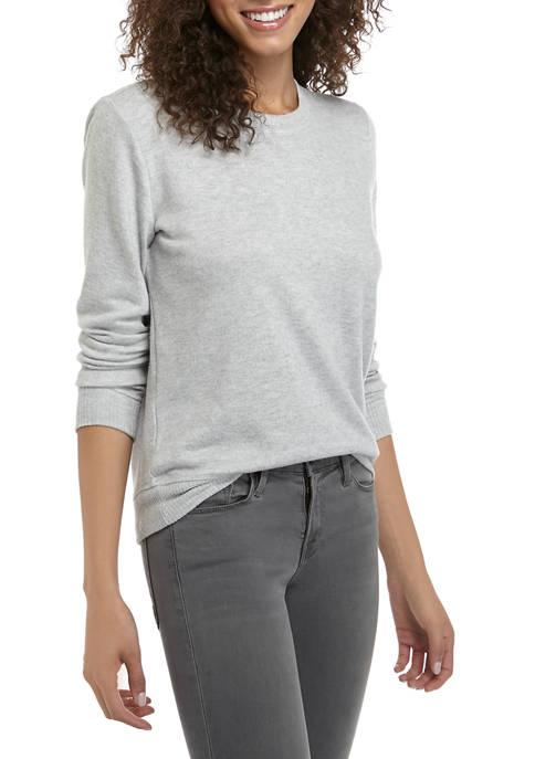 Lucky Brand Solid Cloud Knit Sweatshirt
