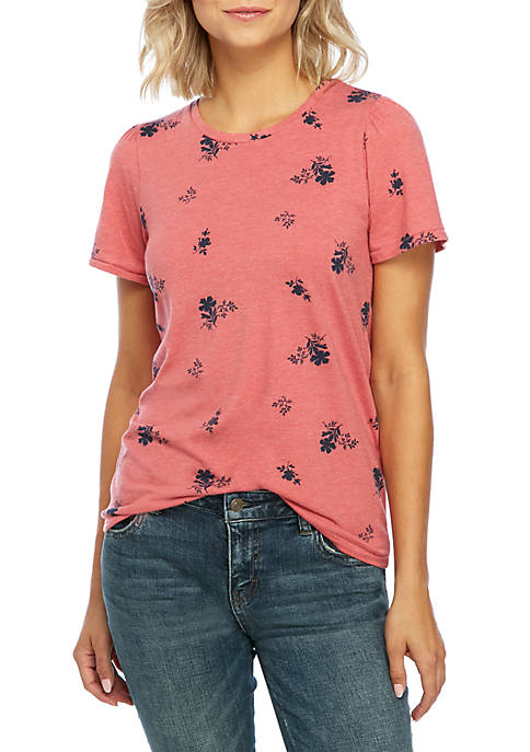 Lucky Brand Allover Floral Graphic Tee