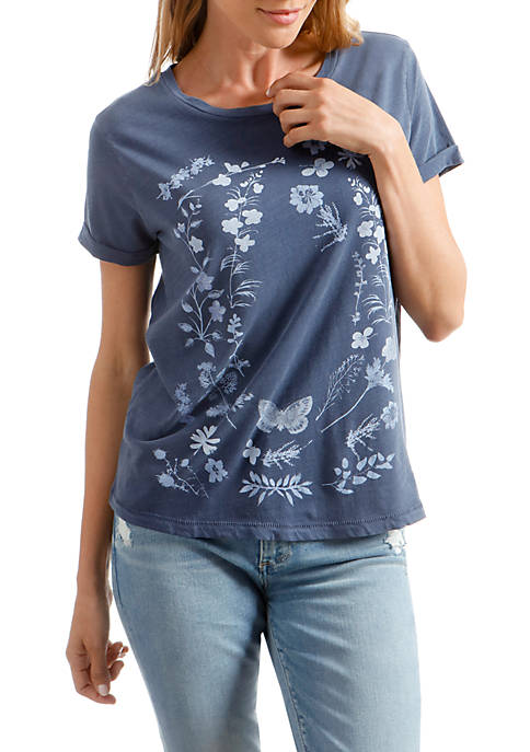 Lucky Brand Flowers Graphic Tee