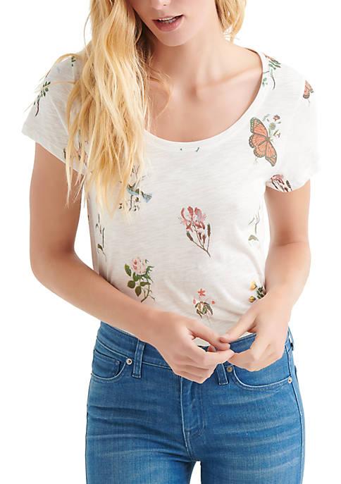 Lucky Brand Tossed Botanical Print T Shirt