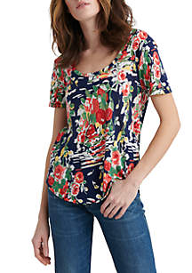 144809965aff6 ... Lucky Brand Summer Bouquet Scoop T Shirt