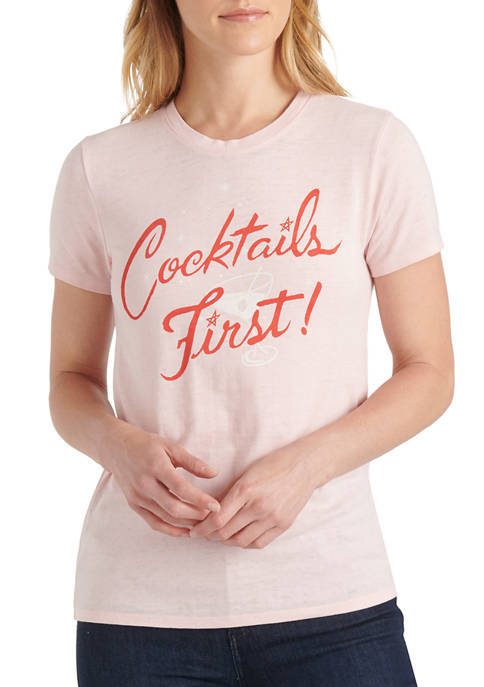 Lucky Brand Cocktails First Graphic T-Shirt