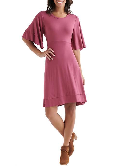 Lucky Brand Ruffle Sleeve Dress