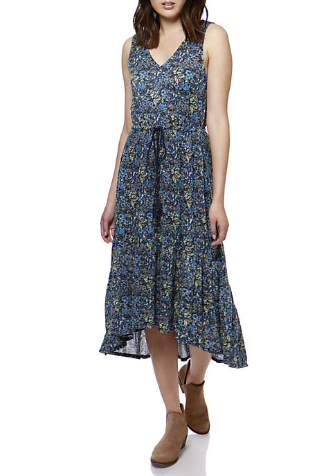 Lucky Brand Knit Jacquard Dress