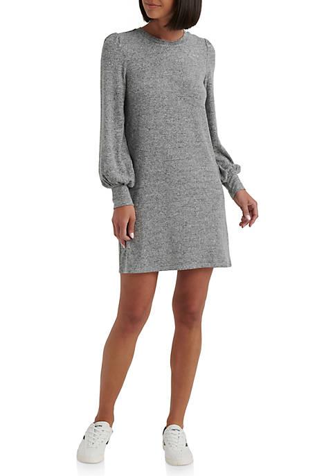 Cloud Jersey Long Juliet Sleeve Dress