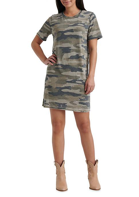 Lucky Brand Camo T Shirt Dress Belk