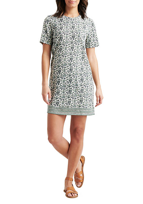 Lucky Brand Woodblock Print Tee Dress