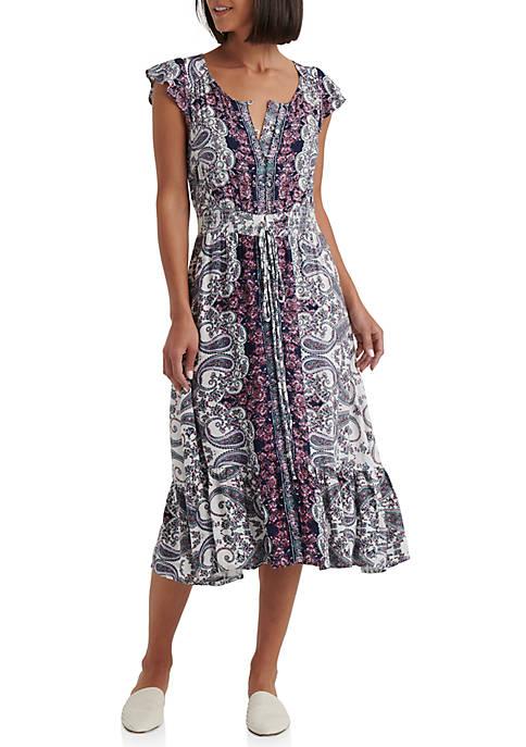 Lucky Brand Felicia Midi Dress