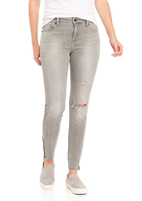Lucky Brand Ava Mid Rise Grey Skinny Jeans