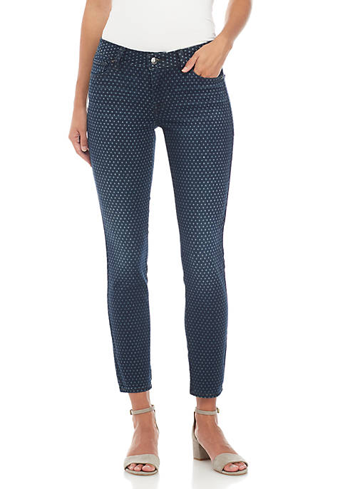 Lucky Brand Lolita Mid Rise Dot Skinny Jeans