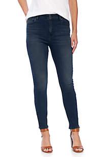 Bridgette High Rise Skinny Hem Jeans