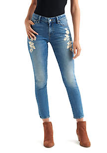 Embroidered Lolita Skinny Jeans