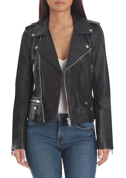 Bagatelle NYC Womens Lamb Leather Perfecto Biker Jacket