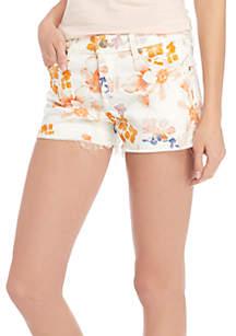 Printed Cut-Off Shorts