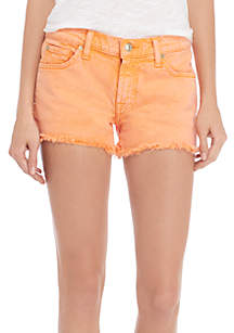 White Cut-Off Shorts