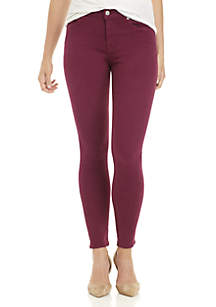 7 For All Mankind® Coated Ankle Skinny Pants