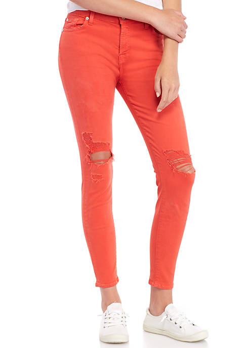 7 For All Mankind® Ankle Destroyed Skinny Jeans