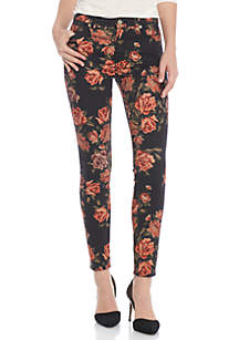 Ankle Skinny Floral Jeans