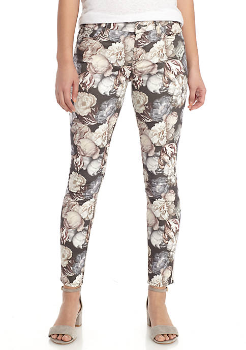 7 For All Mankind® Ankle Skinny Floral Jeans