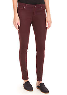 Coated Ankle Skinny Pants