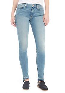 Ankle Skinny Step Release Hem Jeans