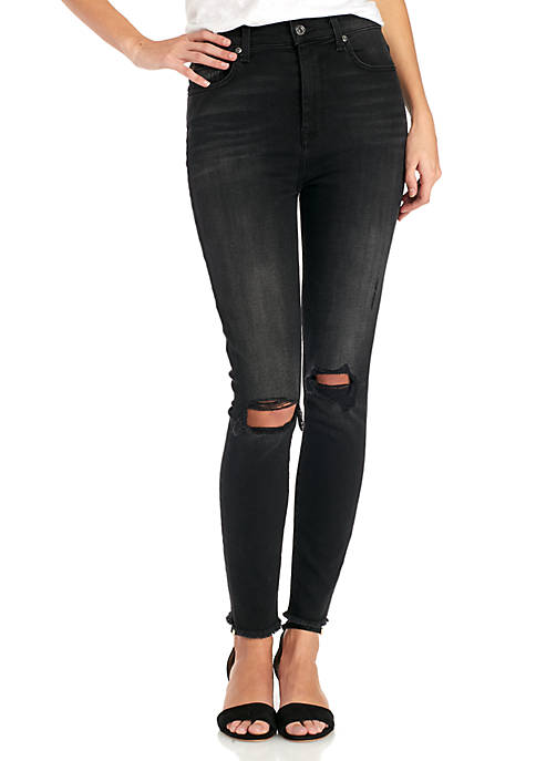7 For All Mankind® Aubrey Frayed Hem Busted