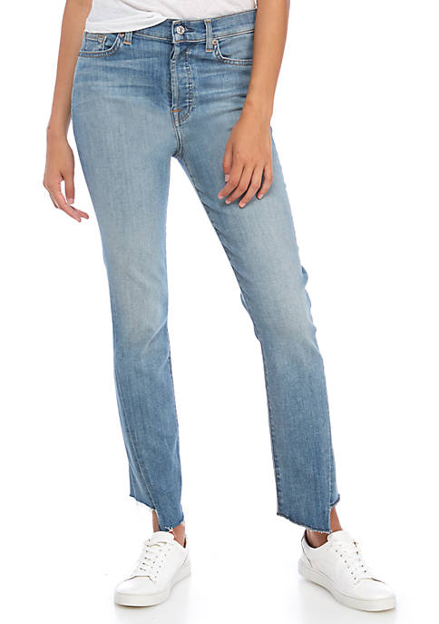 7 For All Mankind® Edie Cutoff Hem Jeans