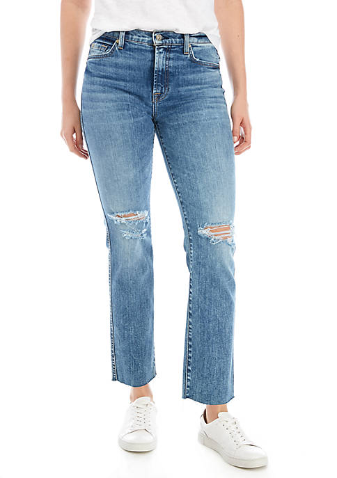 7 For All Mankind® Edie Busted Knee Cut
