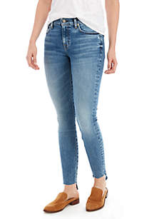 7 For All Mankind® Ankle Skinny Jeans with Step Hem
