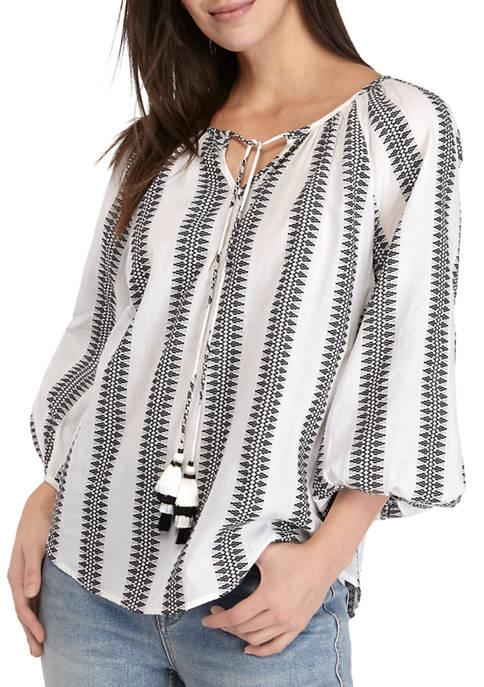 Grace Elements Womens Yarn Dye Stripe Top with