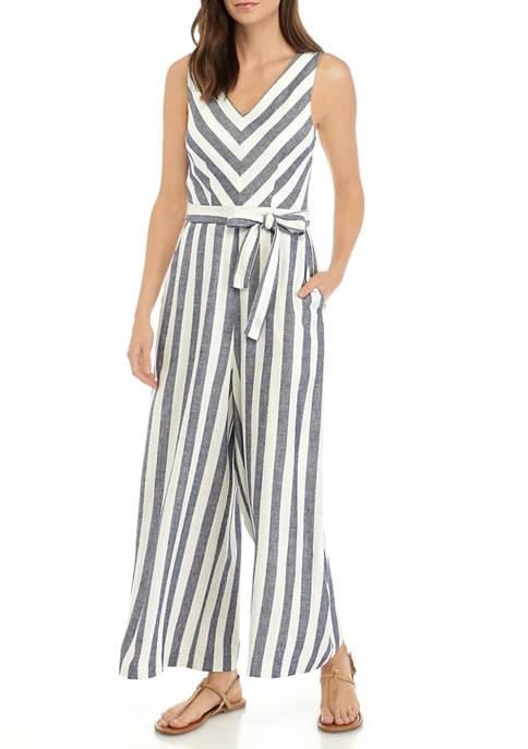 Womens Striped Jumpsuit