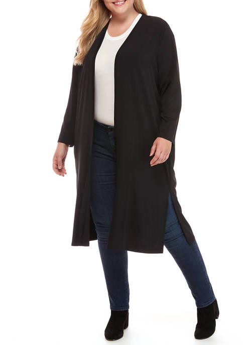philosophy Plus Size Long Sleeve Drape Cardigan