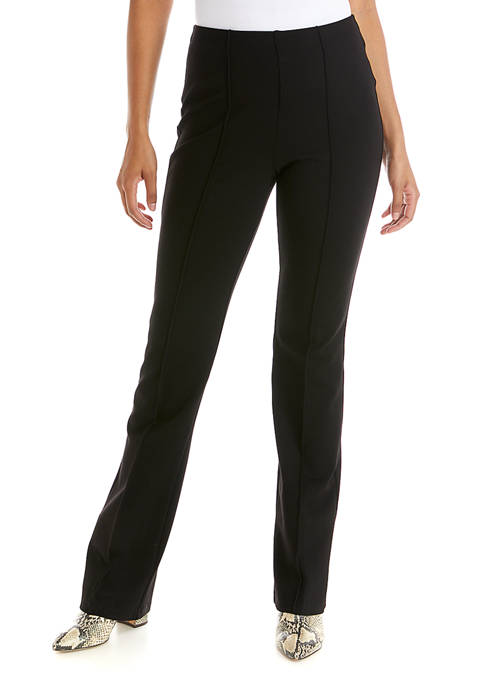 philosophy Womens Black Pull On Flare Pants