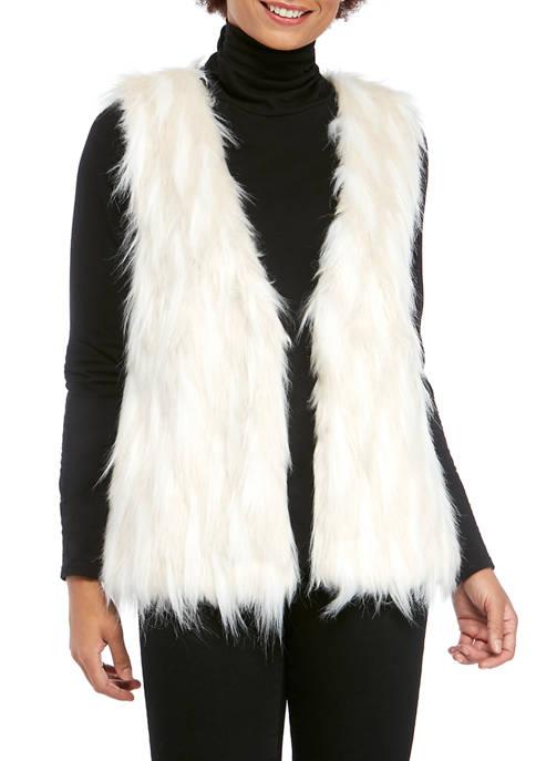 Womens Faux Polar Bear Fur Vest