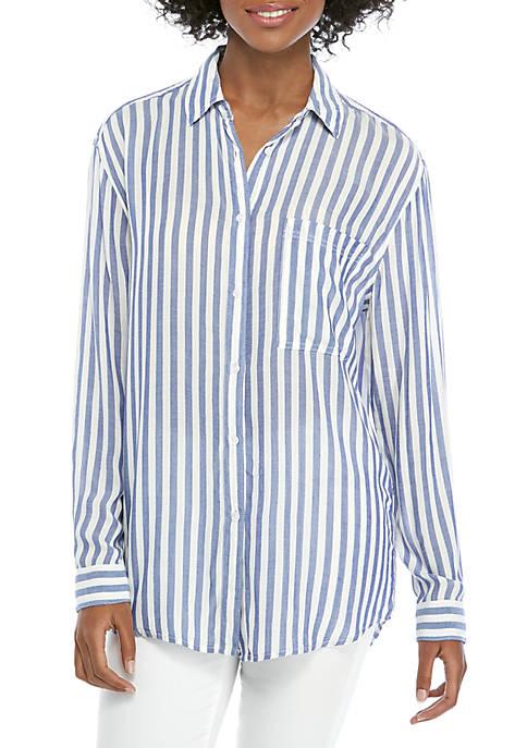 Stripe Button Down Blouse