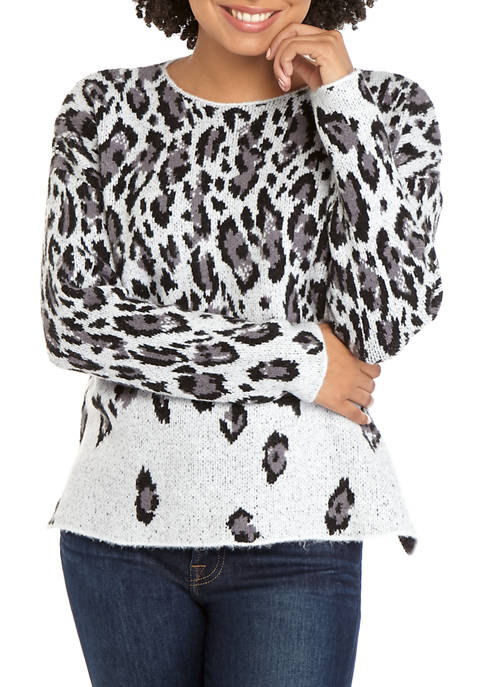 Womens Camouflage High Low Sweater