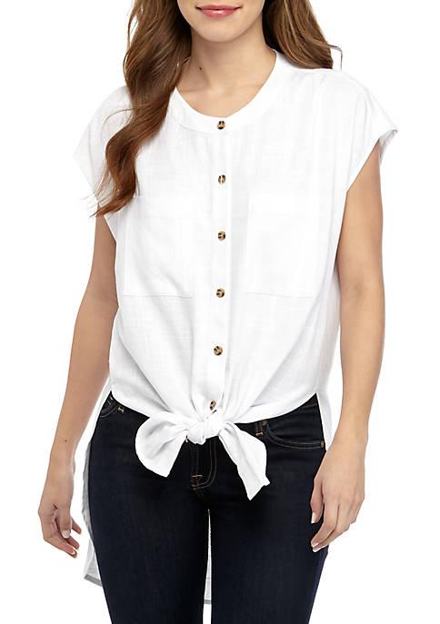 Grace Elements Short Sleeve Linen Shirt