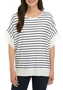 Grace Elements Stripe Poncho Top