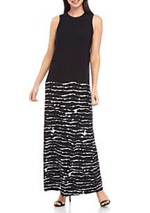 Grace Elements Tie Dye Wire Maxi Dress