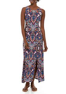 Grace Elements Paisley Print Maxi Dress
