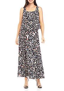 Grace Elements Leopard Print Maxi Dress