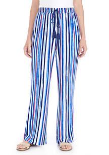 Coastal Wave Stripe Pants