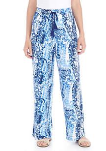 Blue Shadow Paisley Soft Pants