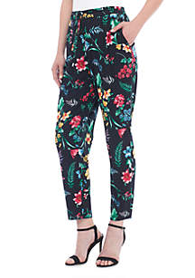 Pull-On Tahitian Floral Pants
