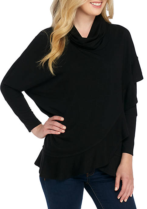 Grace Elements Long Sleeve Tulip Cowl Neck Top