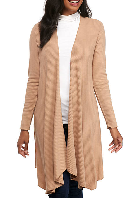 Grace Elements Long Sleeve Ribbed Duster Cardigan