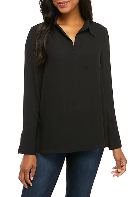 Premise Long Sleeve Woven Top