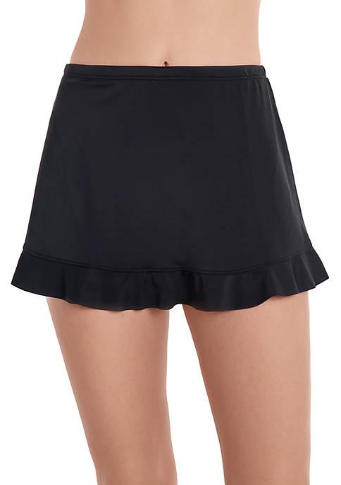 Ruffle Hem Swim Skirt