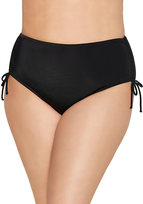 Caribbean Joe Plus Size Adjustable Side Swim Briefs
